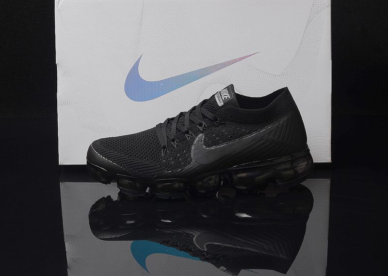 sale retailer 6cdd0 10603 Nike Air VaporMax Flyknit AIR 2018 Triple Black Men's Running Shoes  NIKE-ST000025