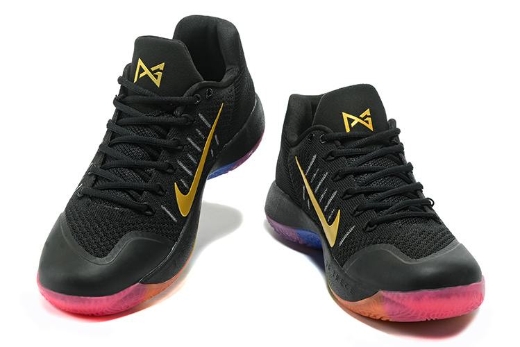 fc7db133a3a0d Nike Paul George PG 2 Flyknit Black Red Gold Men s Basketball Shoes ...