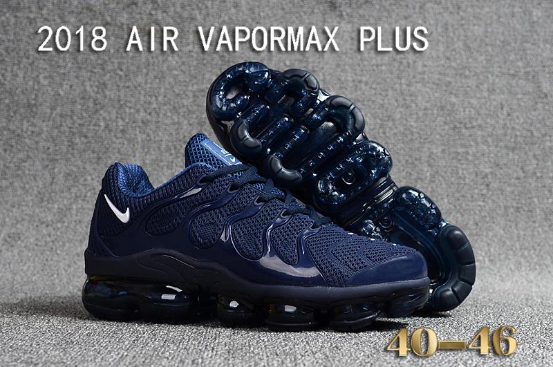 371c6ac9c41 Nike Air Vapormax Plus KPU TN + 2018 Navy Blue White Black Men s Running  Shoes NIKE-ST000960