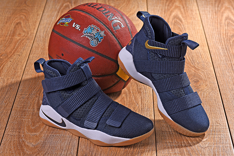 6c1a11d3b6a Nike LeBron Soldier 11 XI Cavs Alternate Midnight Navy Men s Basketball  Shoes 897645-402