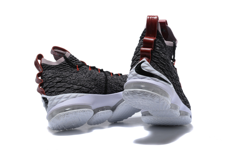low priced 265ad ad9d1 Nike Lebron 15 XV Pride of Ohio Black Taupe Grey Burgundy Men's Basketball  Shoes 897648-003
