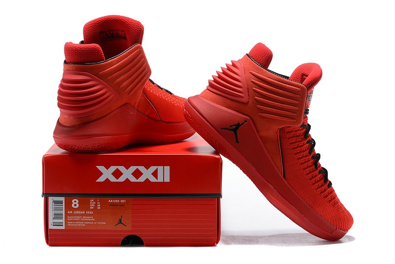 5423c537a5f1f2 Nike Air Jordan XXXII 32 Rosso Corsa University Red Black Men s Basketball  Shoes