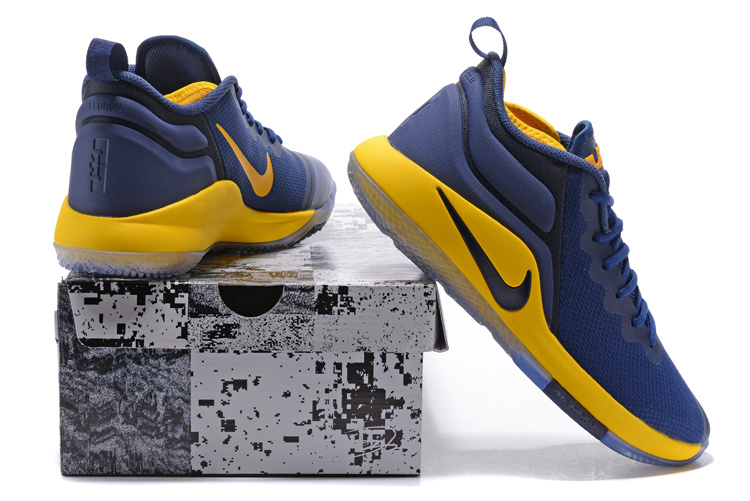 Nike Zoom Witness EP Lebron James Navy Blue Yellow Men s Basketball ... 7d45c4fac