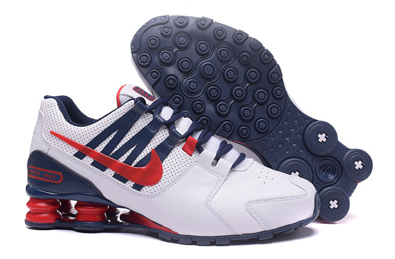 best service f5041 11957 ... low cost nike shox avenue white navy blue red mens running shoes 2d05a  0cbc2