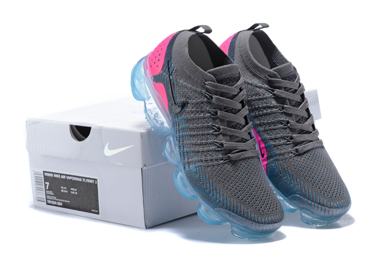 Nike Air VaporMax Flyknit TPU Grey Pink Women s Running Shoes 781024 ... ed797e679