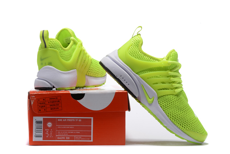 hot sale online 0447a e8b45 Nike Wmns Air Presto Electric Green White Men's Women's Running Shoes  846290-300