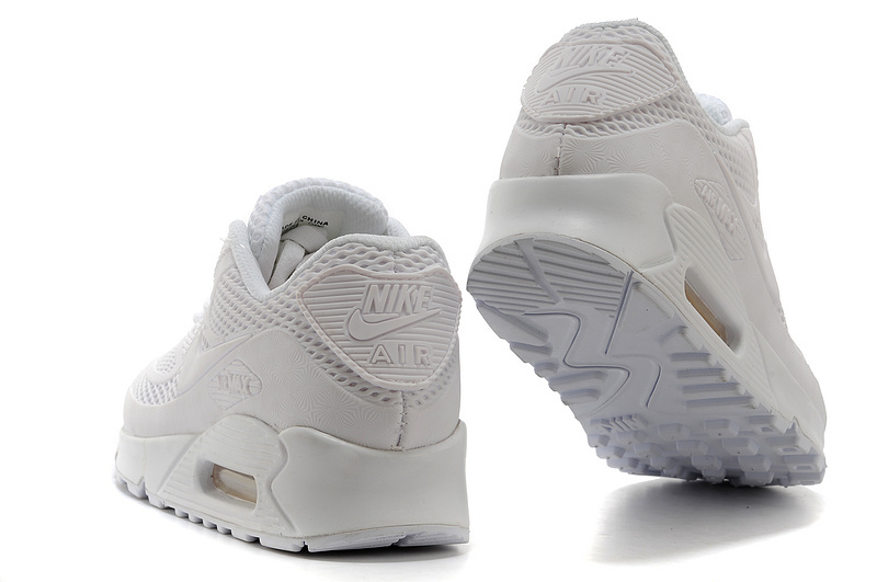 finest selection b9a8f 86ae9 Nike Air Max 90 KPU All White Men s Women s Running Shoes Sneakers