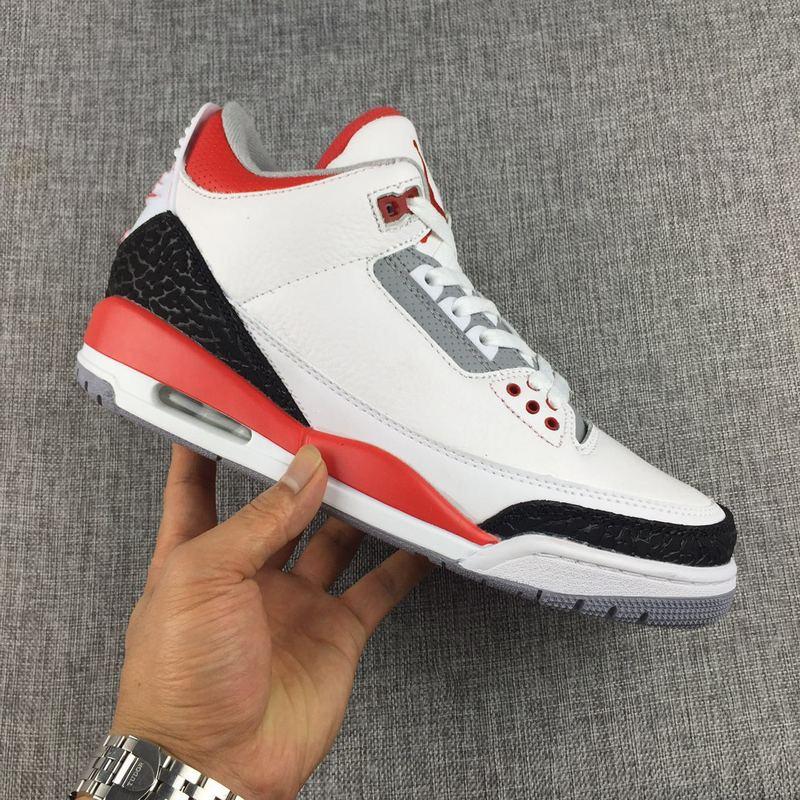 buy online 555ab b0896 Nike Air Jordan 3 Retro White Fire Red Silver Mens Athletic Basketball  Shoes 136064-120