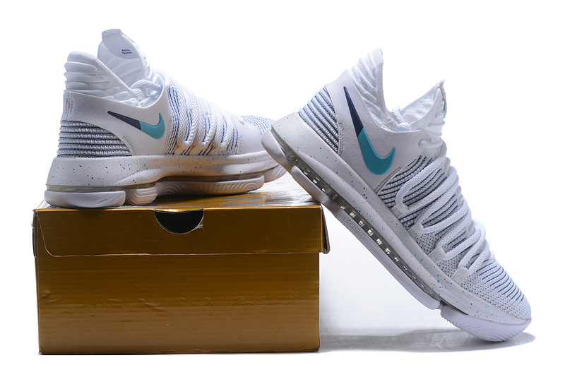 04c77ccfad6d Nike Zoom KD 10 LMTD EP White Blue Men s Basketball Shoes NIKE ...