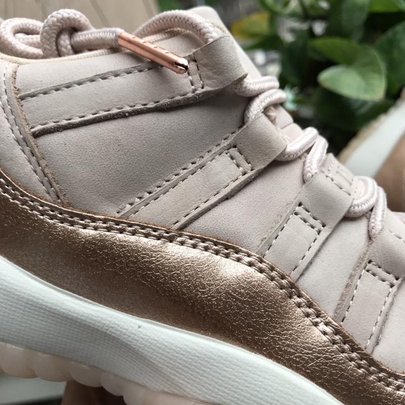 best service 78a0b 8ace4 Nike Air Jordan Retro 11 GS Rose Gold Womens Athletic Basketball Shoes  AH7860-105