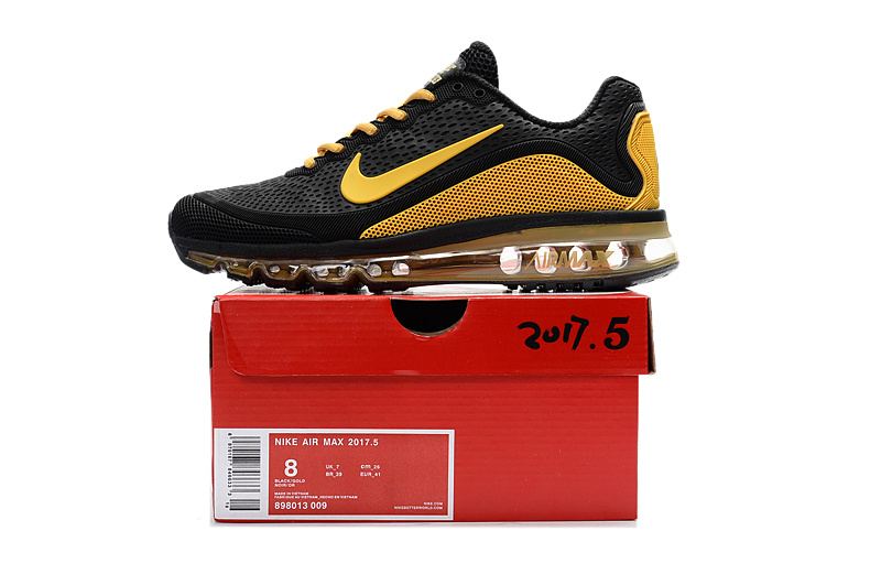 0c2ca070fff4ef Nike Air Max 2017. 5 KPU Black Yellow Men s Running Shoes 898013-009 ...