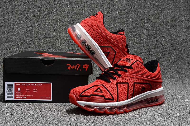 wholesale dealer c28b2 ae7f1 Nike Air Max Flair 2017 Kpu University Red Black White Men's Running ...