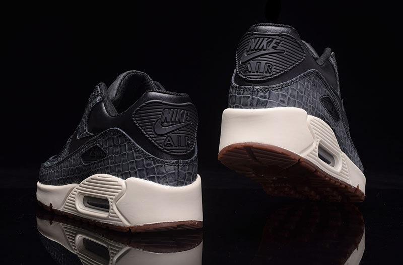 outlet store 80612 4b9d3 Med Premium Nike Air Black 90 Running Max Brown Women s Sail Gum cASL534Rjq