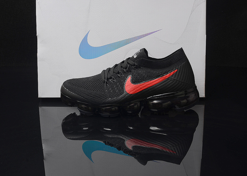 79a6fa9a8cd7e Nike Air VaporMax Flyknit AIR 2018 Black Red Men s Running Shoes ...