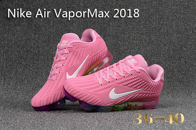 5496dd008506f Nike Air Vapor Max 2018 KPU Pink White Multi-Color Women s Running Shoes