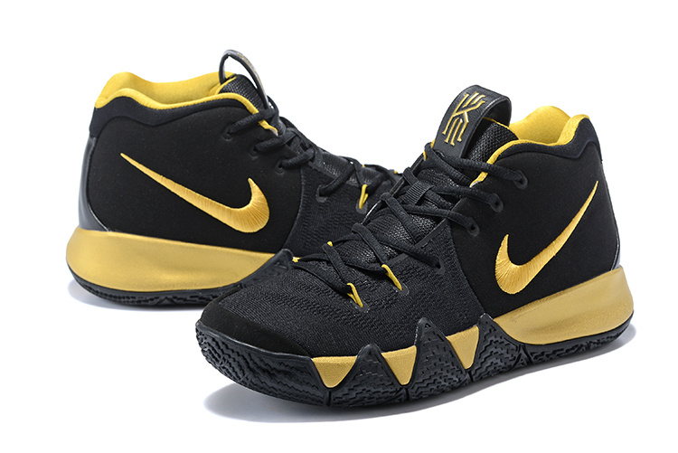 Nike Kyrie Irving 4 Black Gold Men s Basketball Shoes NIKE-ST001596 ... 137dd53cdf5c