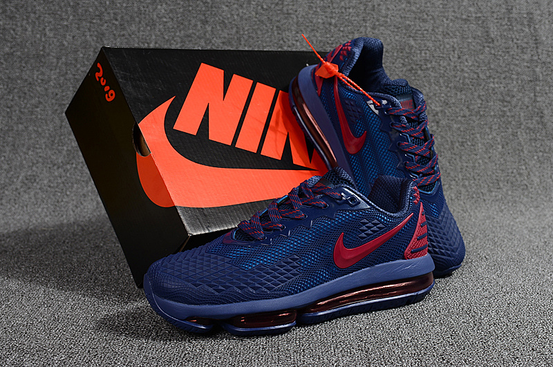 245c267bf9a8 Nike Air Max Flair KPU 2019 Navy Blue Red Men s Running Shoes NIKE ...