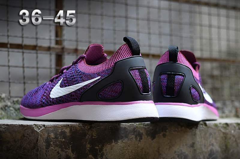 uk availability d3524 36aa9 Nike Air Zoom Mariah Flyknit Racer Purple White Women s Running Shoes