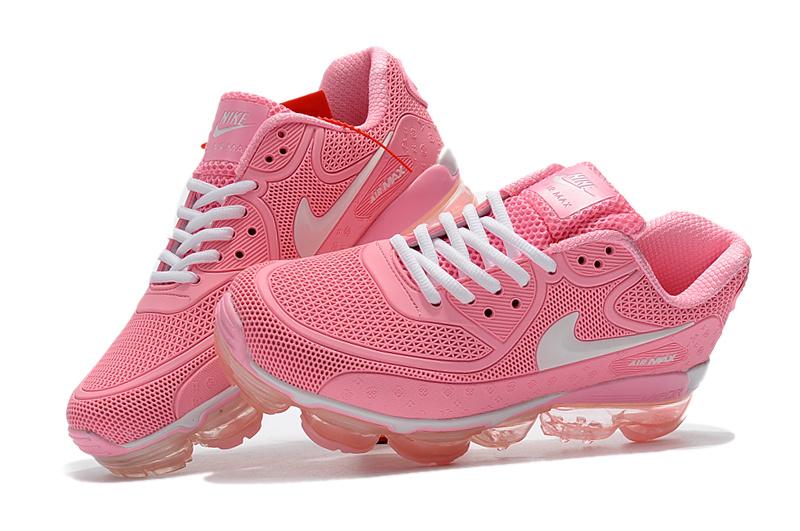 sale retailer 95ac1 70b32 Off White x Nike Air Max 90 KPU Baby Pink White 875695 559 Women s Running  Shoes
