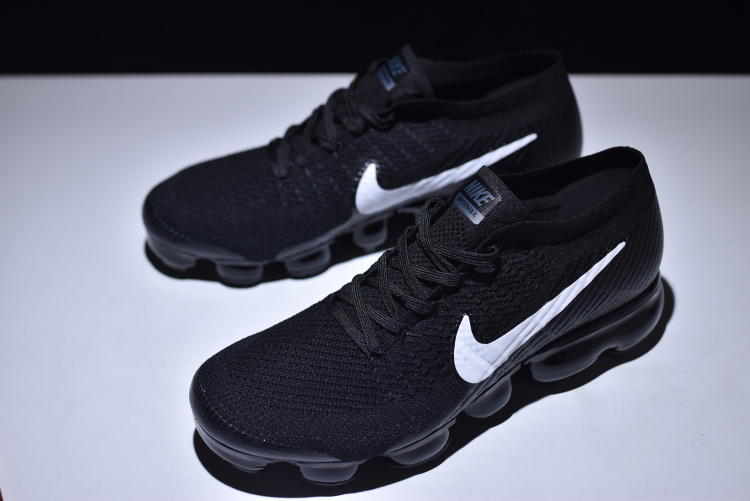 74a034171bd Nike Air VaporMax Flyknit Black White Women s Men s Running Shoes ...