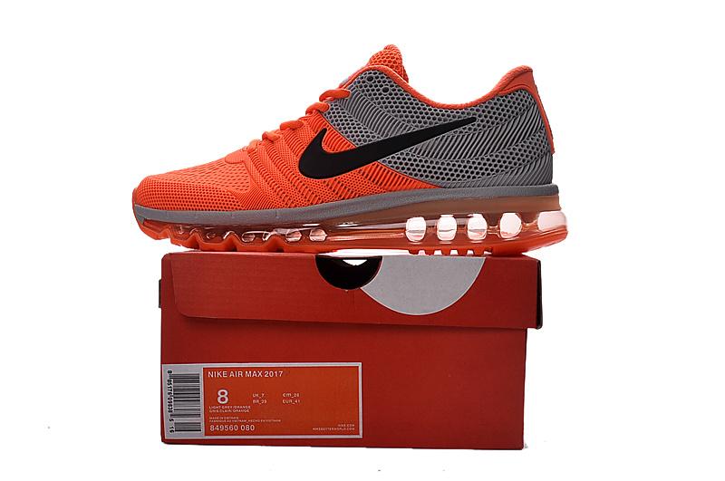 la meilleure attitude e375e e561e Nike Air Max 2017 Orange Grey Men's Running Shoes 849560--080