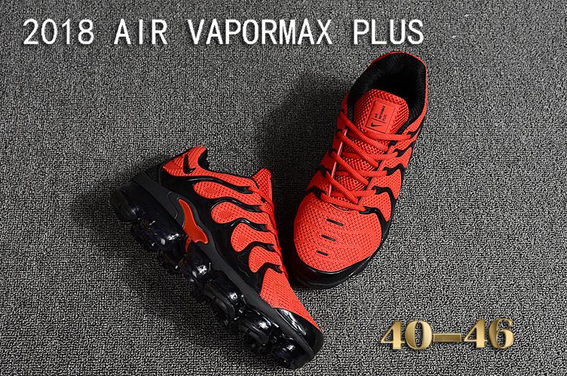 1e465b9e7ddce Nike Air Vapormax Plus KPU TN + 2018 October Red Black Men s Running Shoes