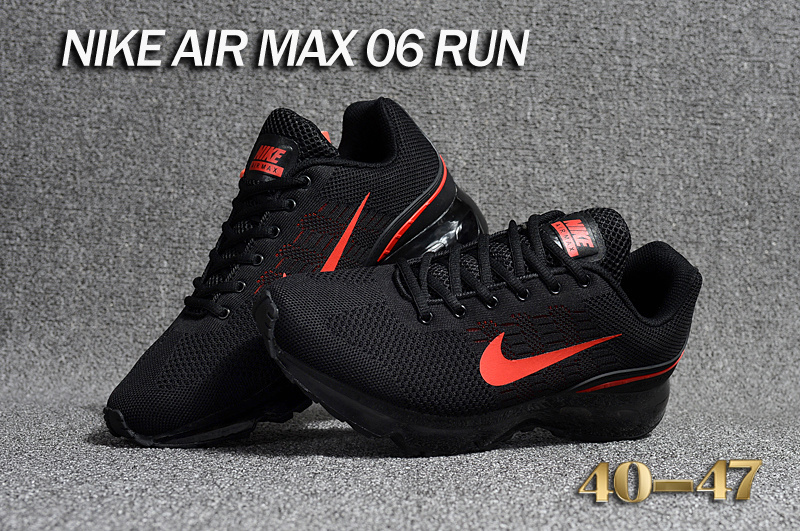 separation shoes 1e251 b07ae ... netherlands nike air max 06 run flyknit black red mens running shoes  9fd14 f87b0