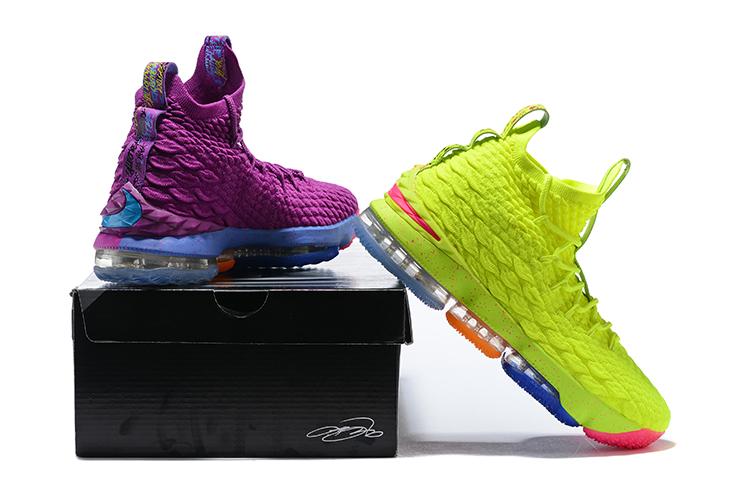 22fe5e2320e6 Nike LeBron XV 15 EP Confetti Purple Green Multi Color Christmas ...
