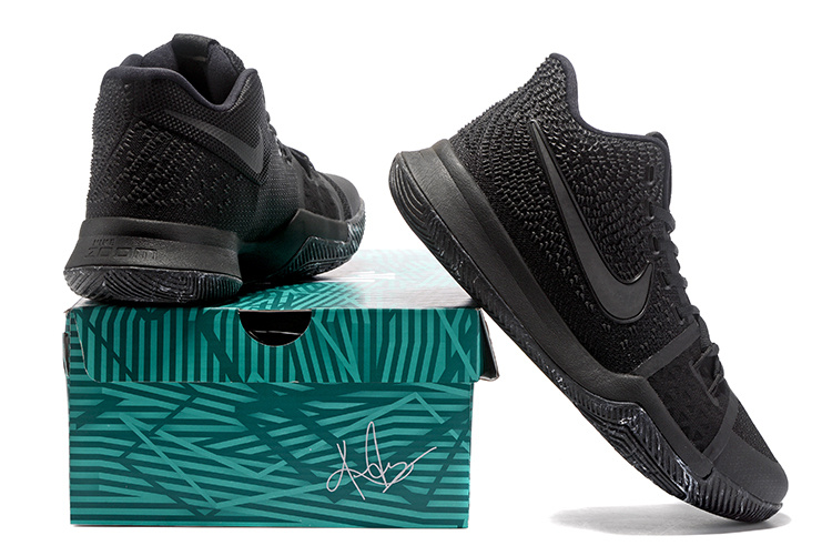 official photos cc456 68f9d Nike Kyrie 3 III EP Irving Marble Triple Black 3M Men s Basketball Shoes