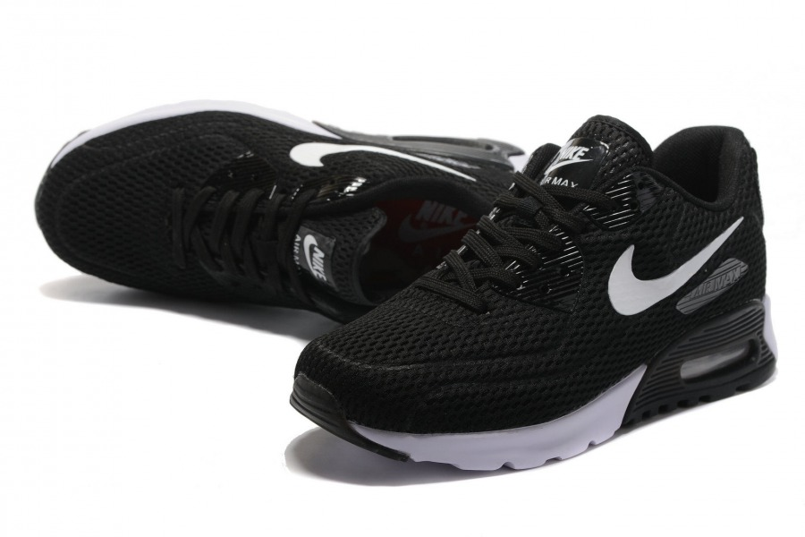finest selection 1b069 a4d10 Nike Air Max 90 Ultra Breathe Black White Men's Women's Running Shoes  Sneakers NIKE-ST000195