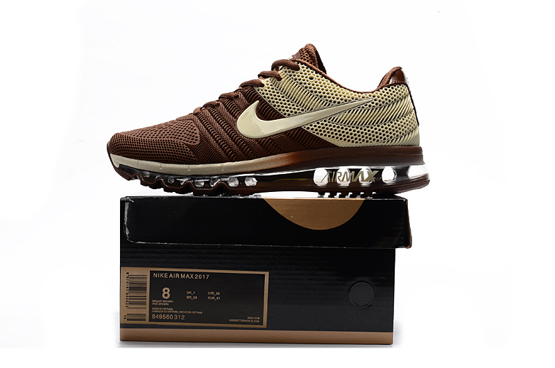 tout neuf e5245 ab885 Nike Air Max 2017 Kpu Brown Men's Running Shoes 849560-312