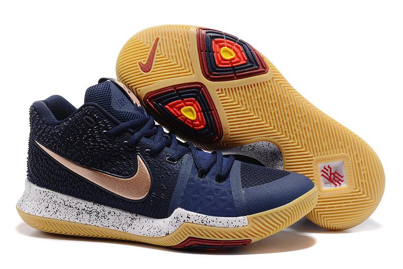 on sale c627a e5c3d Nike Kyrie Irving 3 Navy Blue Copper Men s Basketball Shoes
