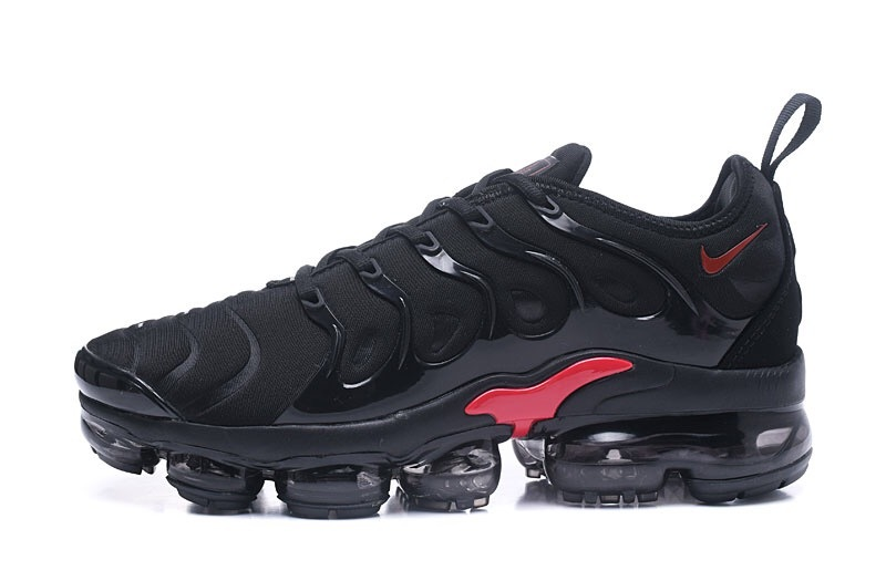 save off 17f3f 06ab4 Nike Air VaporMax Plus TN Black Red Men's Running Shoes NIKE-ST000968