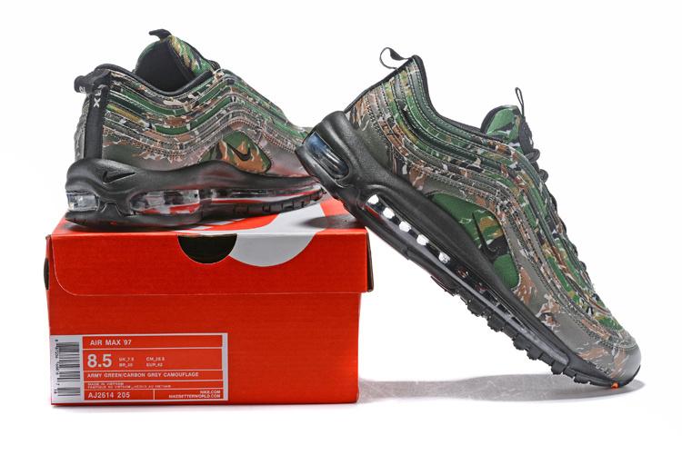factory authentic 6fb12 1b0e5 Nike Air Max 97 Premium Qs USA Camo Medium Olive Sand Camo Men's Running  Shoes Aj2614-205