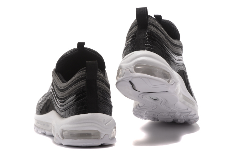 Nike Air Max 97 Premium Black White Men's Running Shoes 917646 001