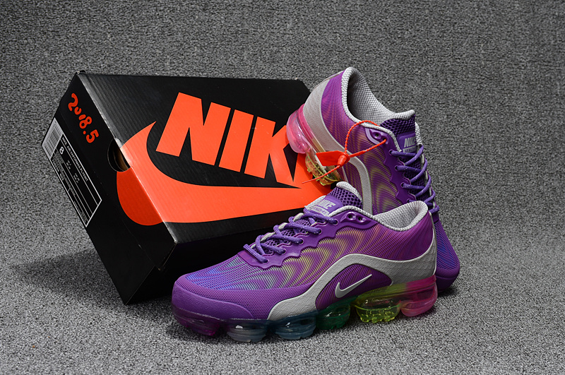 9d403f23fc21c Nike Air VaporMax Flyknit 2018. 5 Kpu Purple Grey Multi-Color Women s ...