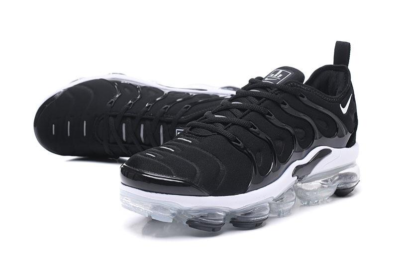 new arrivals 3cf9b d3a6f Nike Air VaporMax Plus TN Black White Men's Running Shoes NIKE-ST000967