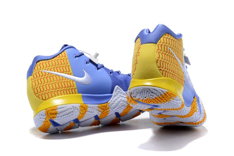 buy online 6d231 dcf01 Nike Kyrie 4 Royal Blue Gold White Men's Basketball Shoes NIKE-ST001614