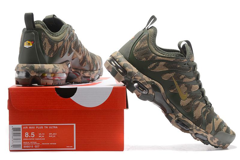 online retailer 1b9ec 5661e Nike Air Max Plus Tn Ultra Green Camouflage 898015 027 Men's Women's  Running Shoes 898015-027