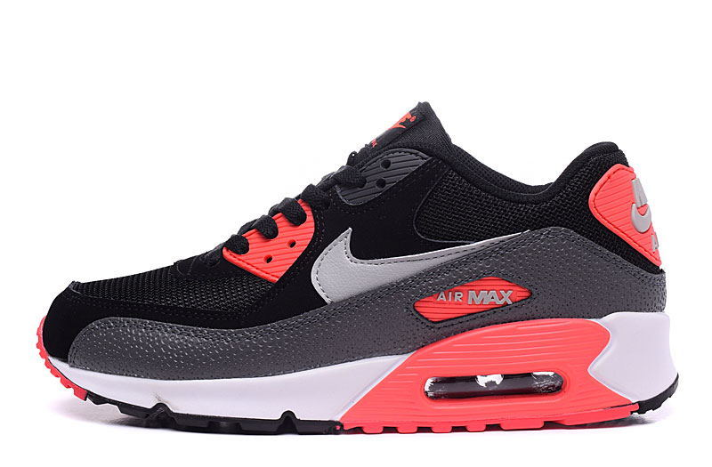 los angeles 9095f 9ec92 Nike Air Max 90 Essential Black Wolf Grey Atomic Red Anthracite Men s  Women s Running Shoes Sneakers