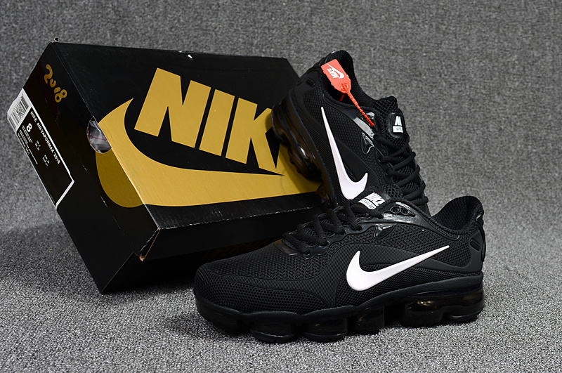 38a5465b9dafd Nike Air VaporMax 2018 Kpu Black White Men s Running Shoes NIKE ...