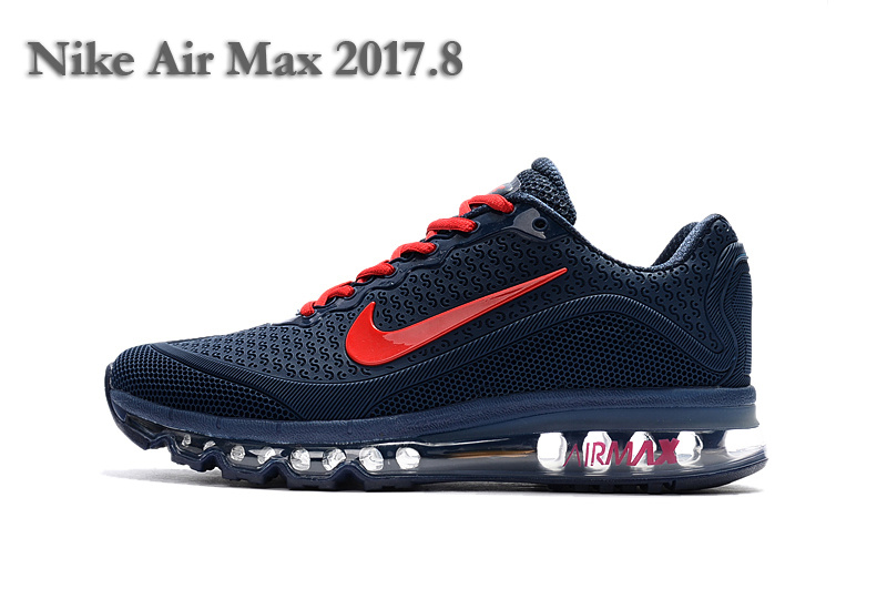 Nike Air Max 2017 8 Kpu Dark Blue Red Men S Running Shoes Nike