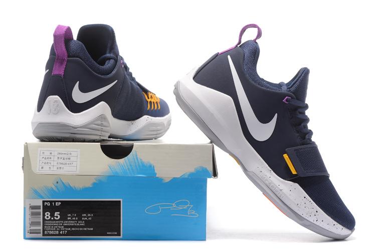 3b7e0f3e7af Nike Air PG1 Paul George Ferocity Navy Blue The Bait Men s ...