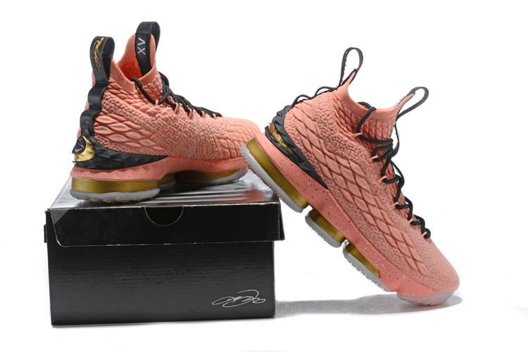 innovative design c4d7c 6d34e Nike Lebron 15 Hollywood All Star Edition 2018 Rust Pink Metallic Gold  Black Men's Basketball Shoes 897650-600
