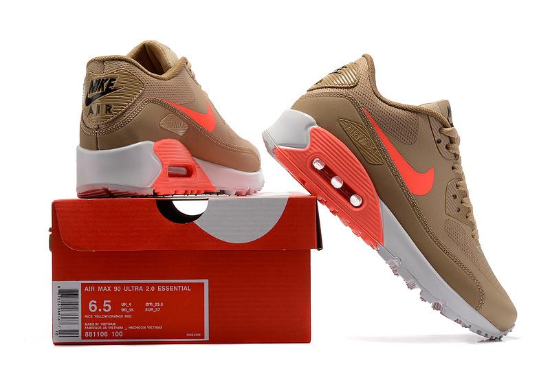 Nike – W Air Max 90 Ultra 2.0 Womens Shoes OatmealLava Glow