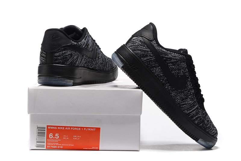 purchase cheap fb6ba ebb71 Nike Air Force 1 Ultra Flyknit Low Black Cool Grey Women's Men's Casual  Shoes Sneakers 817420-010