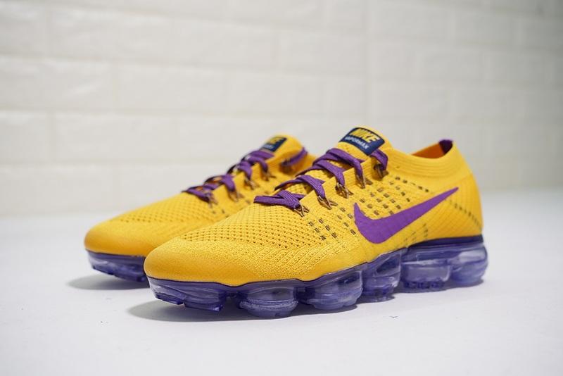afaae318728aa Nike Air VaporMax Flyknit Dragon Ball Z Yellow AA3858-104 Men s Running  Shoes