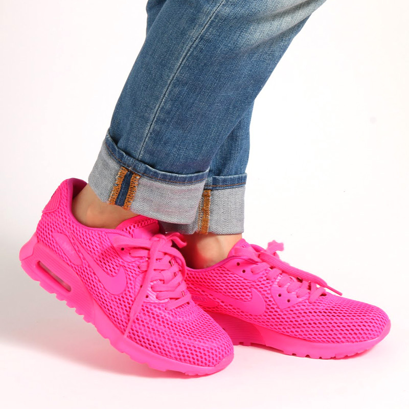 416fbe453e Nike Air Max 90 Ultra Breathe Hyper Pink Vivid Pink Women's Running Shoes  Sneakers