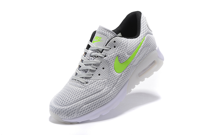 new product da5a4 f10a5 Nike Air Max 90 Ultra Breathe Silver White Green Men's Women's Running  Shoes Sneakers NIKE-ST000202