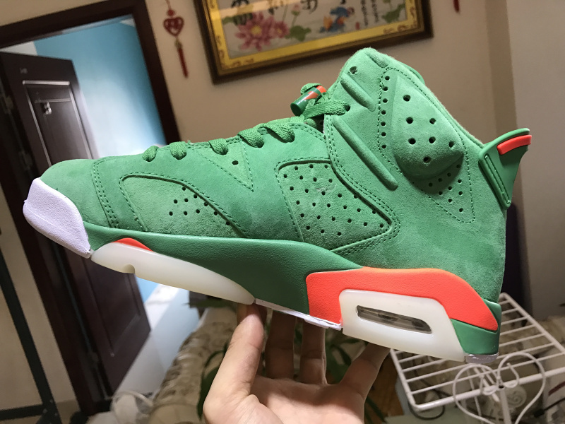0675c3fb9bf Nike Air Jordan 6 Retro Gatorade Green Mens Athletic Basketball Shoes